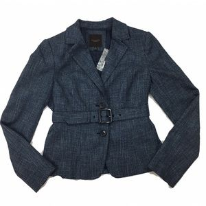 THE LIMITED Chambray Blue Belted Blazer Jacket NWT